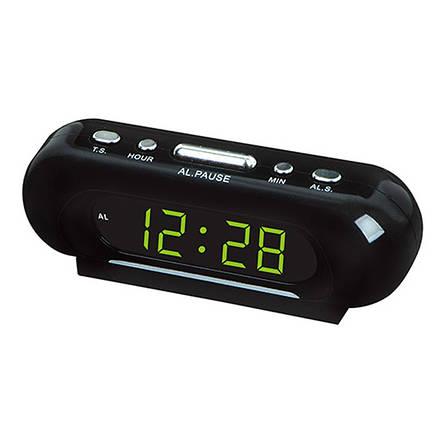 Часы сетевые VST 716-2 зеленые, фото 2