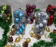 Игрушки новогодние на елку №DC20-17010 (шары,подарки, шишки) 20шт 15*6,5см игрушки 2,5-3мсм