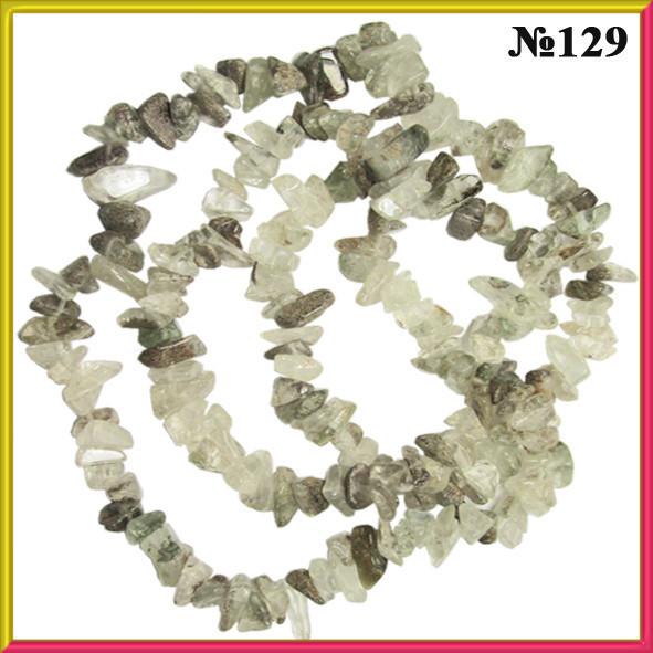 Сколы Кварца Крупные, Размер 8-12*4-8 мм, около 85 см нить, Бусины Натуральный Камень, Рукоделие