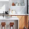 Кварцовий агломерат стільниця під мийку кухонні.