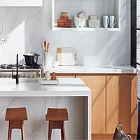 Кварцовий агломерат стільниця під мийку кухонні., фото 1