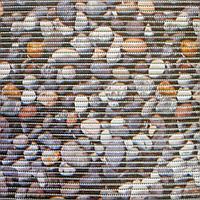 """Коврик для ванной ПВХ 130 см камни """"Deluxe"""""""