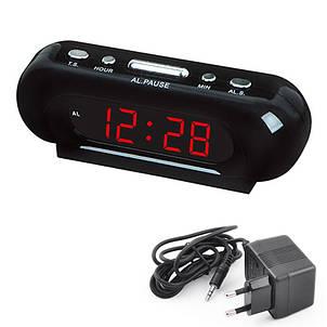 Часы сетевые VST 738-1, красные, фото 2