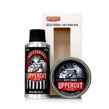 Подарочный набор Uppercut Deluxe Matte Pomade & Salt Spray Duo