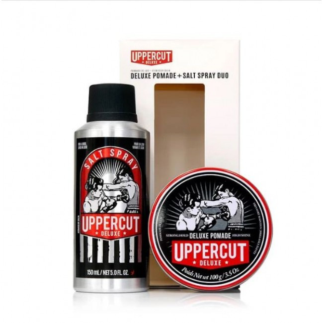 Подарочный набор Uppercut Deluxe Pomade & Salt Spray Duo