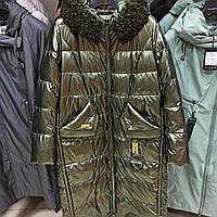 Новинка зима 2020-2021, глянцевый пуховик пальто Mishele 21138  54 размер