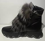 Ботинки женские зимние кожаные с натуральным мехом от производителя модель ЛУ433-3, фото 3