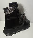 Ботинки женские зимние кожаные с натуральным мехом от производителя модель ЛУ433-3, фото 5