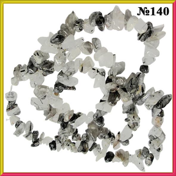Сколы Кварц Волосатик Крупные, Размер 4-12*2-7 мм, Около 85 см нить, Бусины Натуральный Камень, Рукоделие
