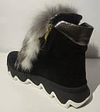 Ботинки женские зимние замшевые с натуральным мехом от производителя модель ЛУ433-4, фото 4