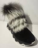 Ботинки женские зимние замшевые с натуральным мехом от производителя модель ЛУ433-4, фото 5