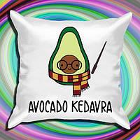"""Подушка с принтом """"Авокадо: Avocado Kedavra"""""""