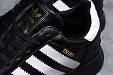 Adidas Iniki мужские зимние черные кроссовки на шнурках, фото 6