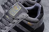 Adidas Iniki мужские зимние темно серые кроссовки на шнурках, фото 5