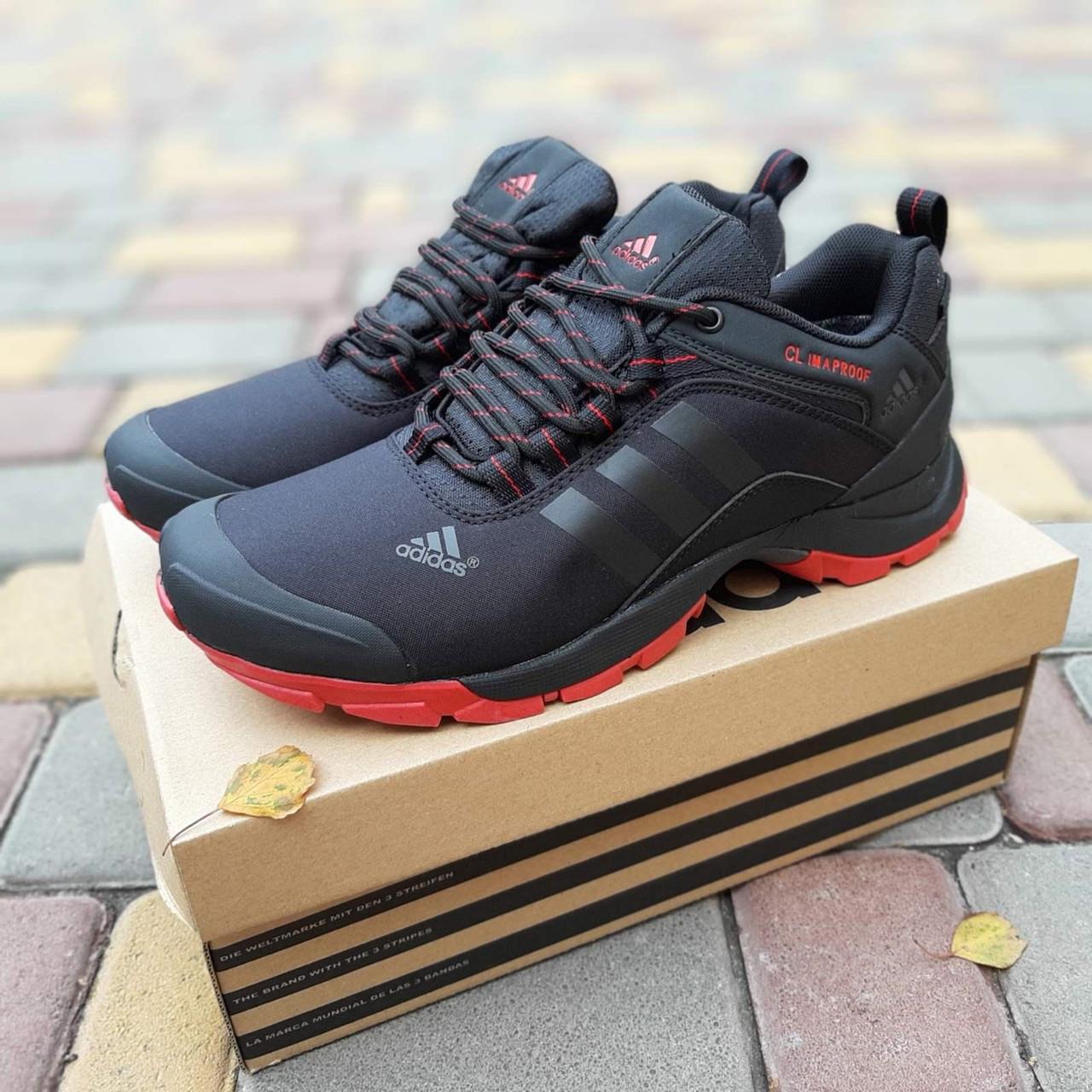 Adidas Climaproof мужские зимние черные кроссовки на шнурках 43