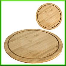 Доска для пиццы D 32  см бамбуковая толщина 1,1 см