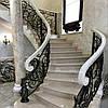 Класична еліптична сходи з мармуру: замовити у виробника.