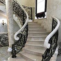 Класична еліптична сходи з мармуру: замовити у виробника., фото 1
