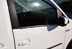 Volkswagen Caddy 2015↗ рр. Накладки на молдинги стекол (2 шт., нерж)