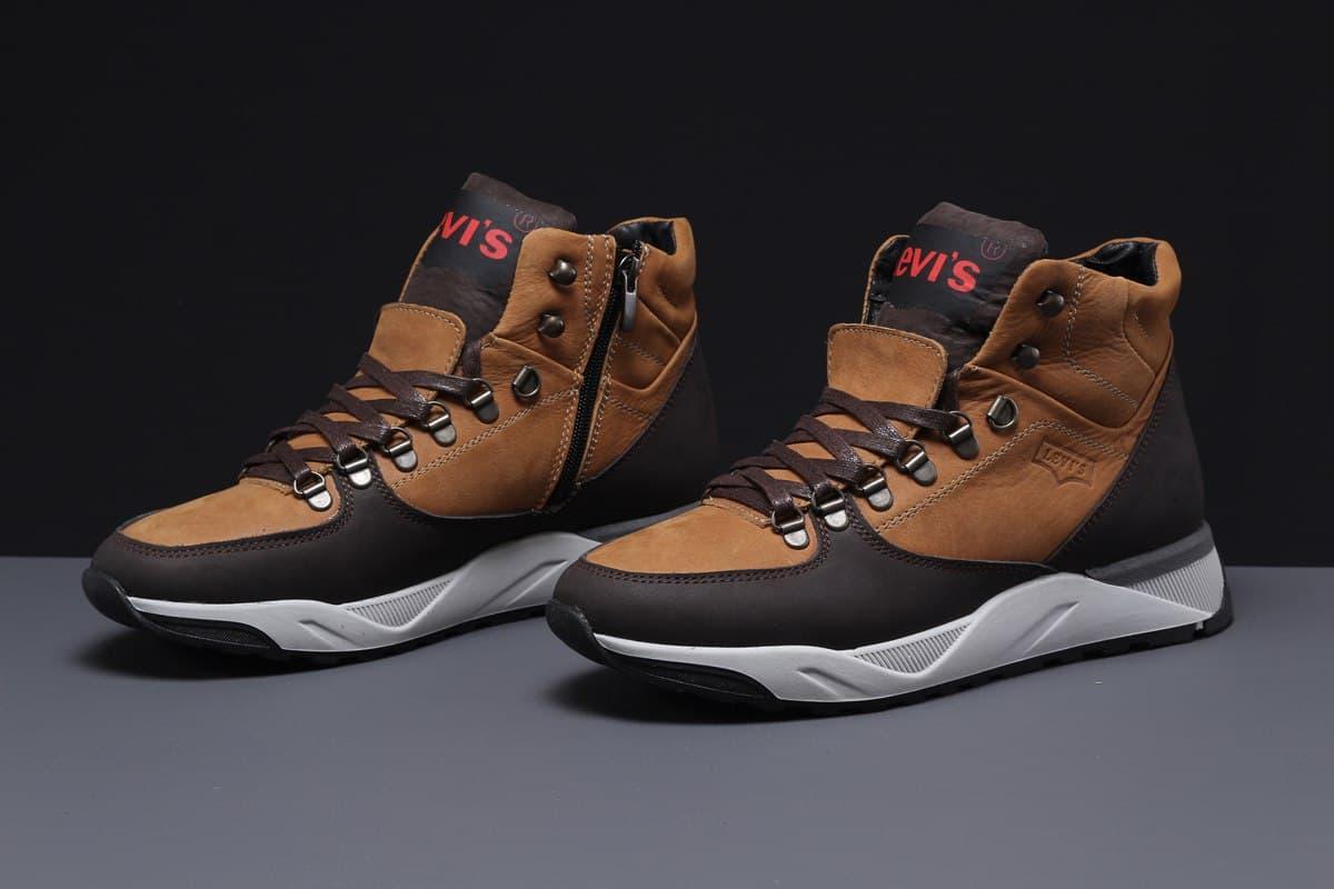 Levi's мужские зимние рыжие ботинки на молнии 41
