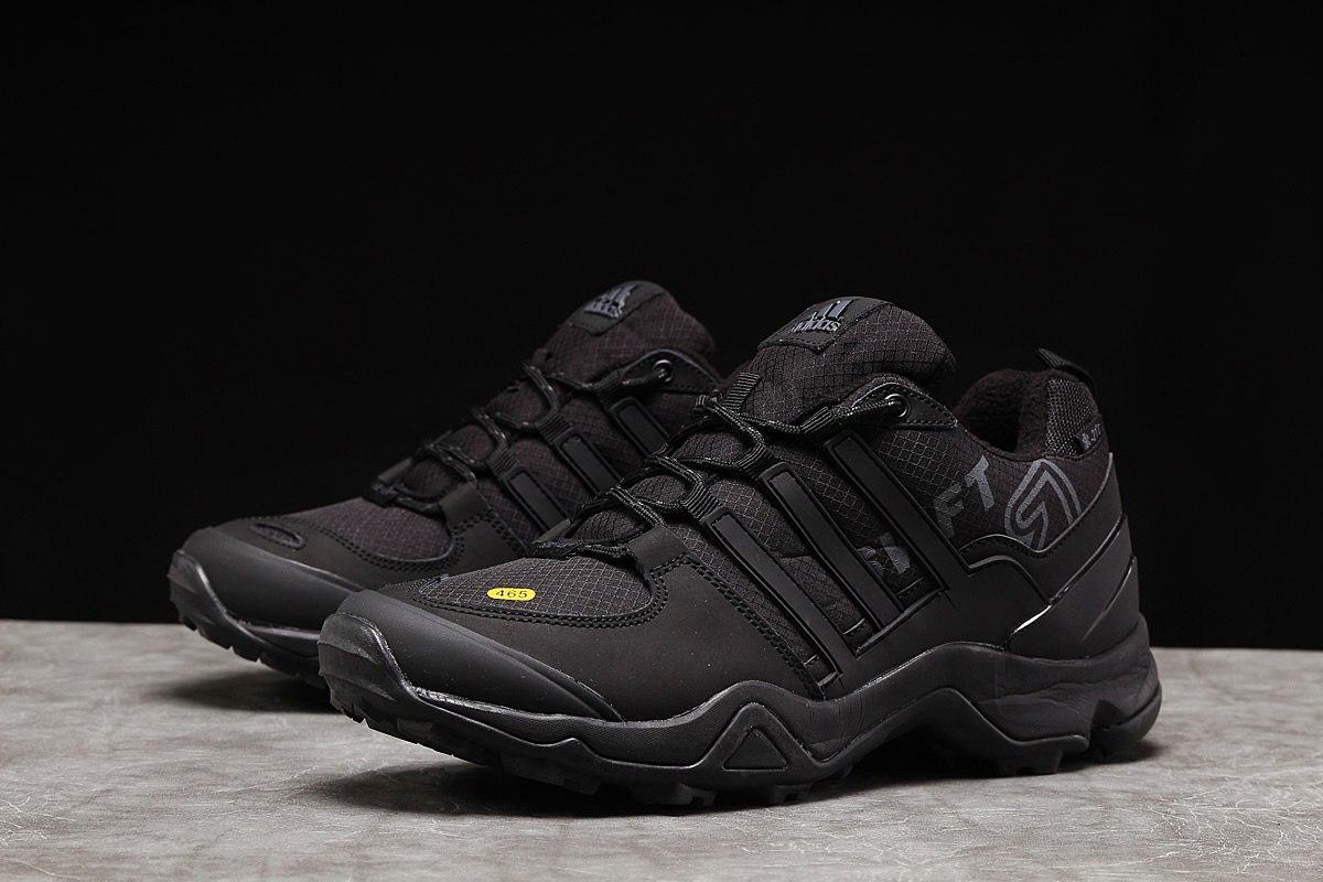 Adidas 465 мужские зимние черные кроссовки на шнурках 44