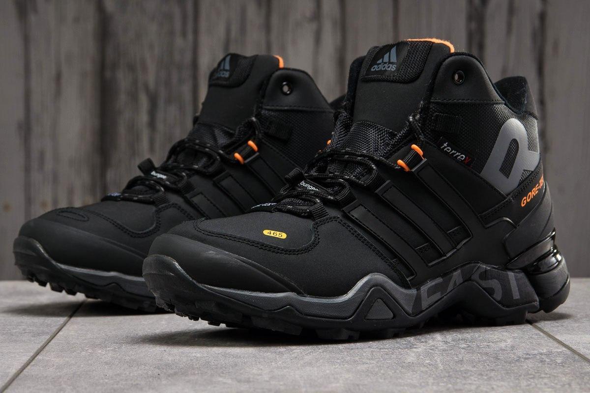 Adidas мужские зимние черные кроссовки на шнурках 43