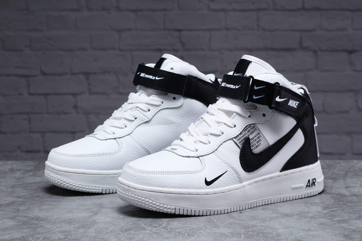 Nike Air женские зимние белые кроссовки на шнурках 39