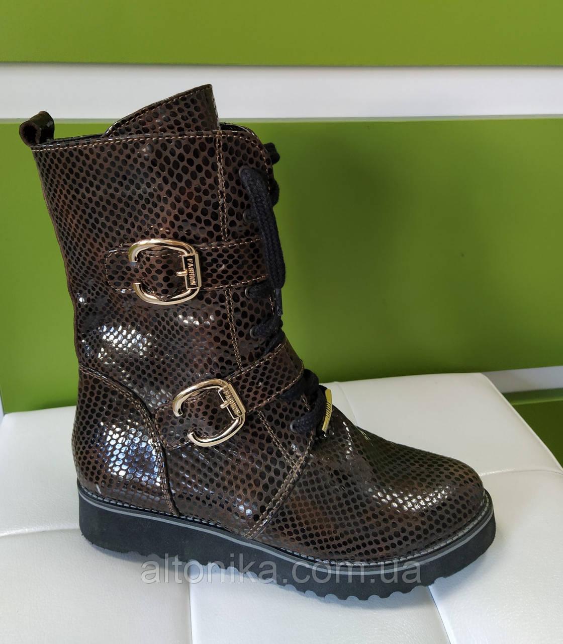 STTOPA деми зима. Размеры 33-35. Ботинки кожаные маленьких размеров! С9-8-3335-3-3345 Коричневые