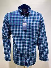 Сорочка чоловіча, прямого покрою, з довгим рукавом Birindelli IND-01-1782 100% бавовна M(Р)