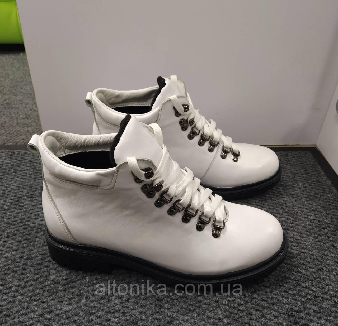 STTOPA деми зима. Размеры 36-41. Ботинки кожаные больших размеров! С9-23-3641-32-3643 Белые