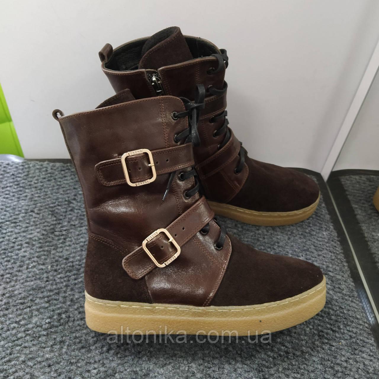STTOPA деми зима. Размеры 36-41. Ботинки кожаные больших размеров! С9-30-3641-35-3345 Коричневые