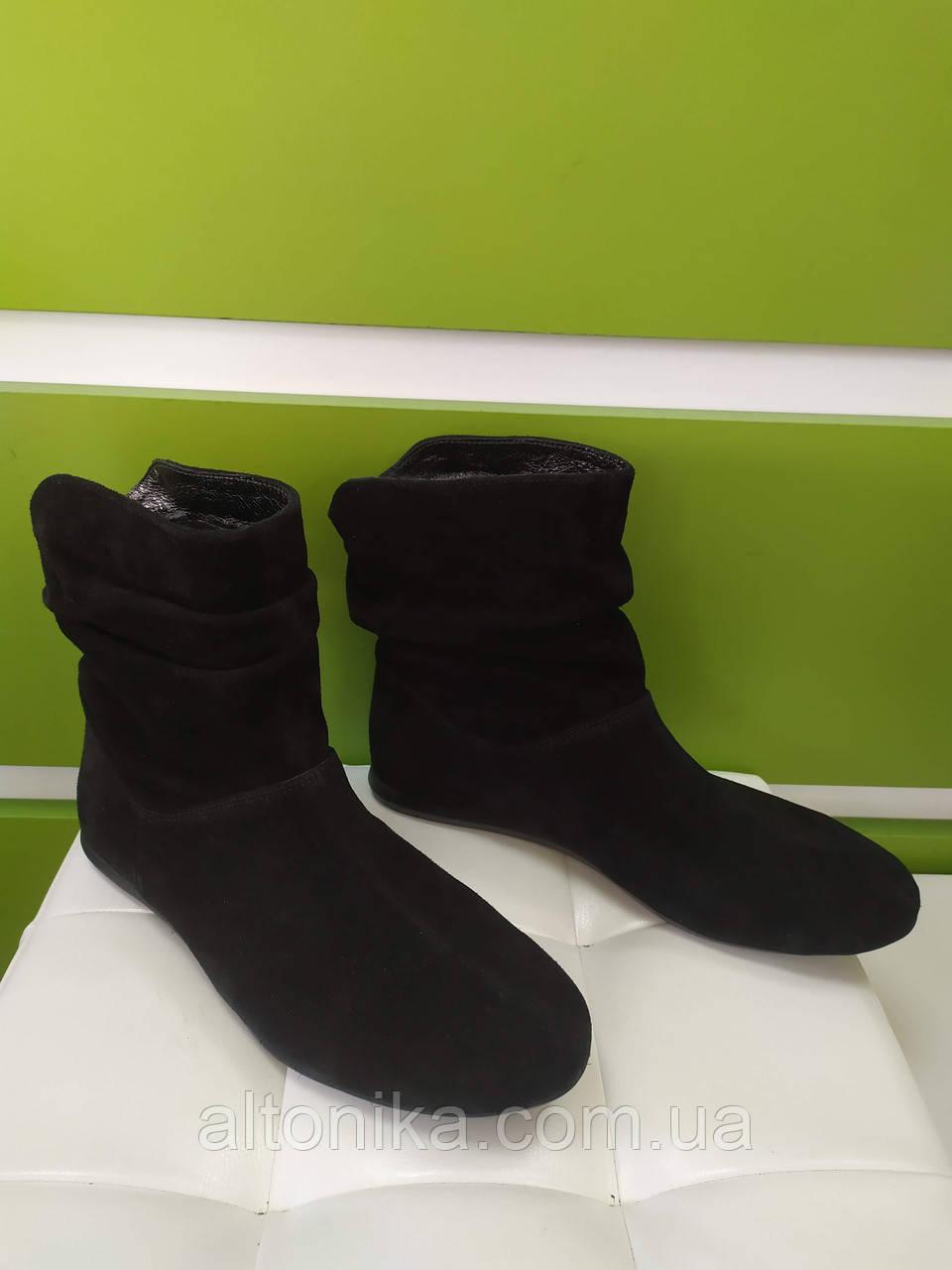 STTOPA деми зима. Размеры 36-43. Полусапожки кожаные на узкую ногу больших размеров! С11-2-3643-1 Черные