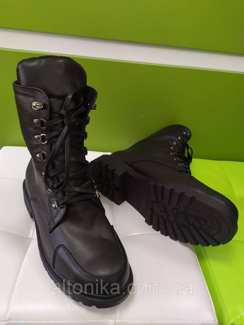 STTOPA деми зима. Размеры 36-41. Ботинки кожаные больших размеров! С9-57-3641-3-3643 Черные