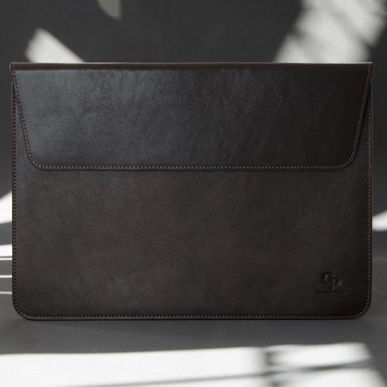 Шкіряний чохол для MacBook 13', шоколад