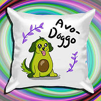 """Подушка с принтом """"Avo-Doggo"""""""