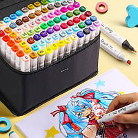 80 цветов! Набор качественных двусторонних маркеров Touch для рисования и скетчинга на спиртовой основе