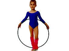 Боди купальник трико  гимнастический для танцев синий , балета, фото 3