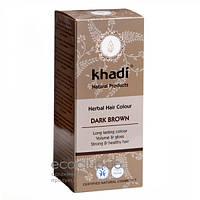 Краска для волос Dunkelbraun Темно-коричневый Khadi