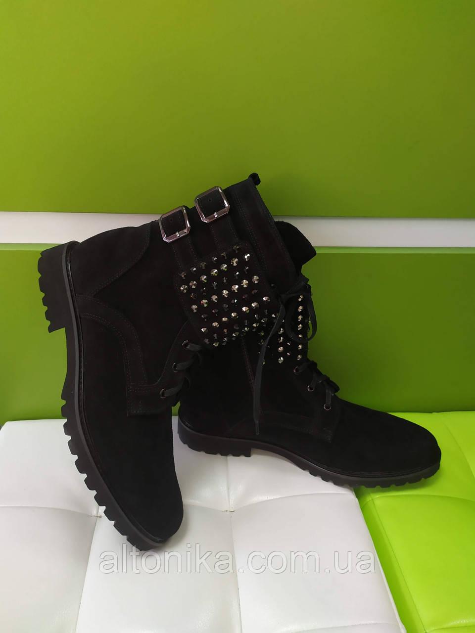 STTOPA деми зима. Размеры 36-44. Ботинки кожаные больших размеров! С9-21-4244-25-3644 Черные
