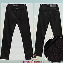 Джинсы мужские классические утеплённые чёрные размеры 42 и 44