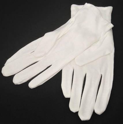 Перчатки хлопчатобумажные белые, размер М, фото 2