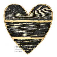 Сердце черное Handmade