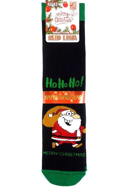 Носки теплые новогодние качество люкс Slid Leva №3 размер 41-43
