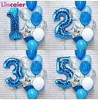 Воздушные шары и композиции из них набор из 12 штук с цифрой