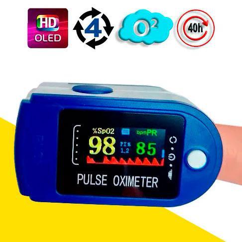 Пульсоксиметр на палец (пульсометр), измерение кислорода в крови OX831