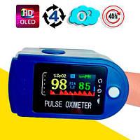 Пульсоксиметр на палец (пульсометр), измерение кислорода в крови OX831, фото 1