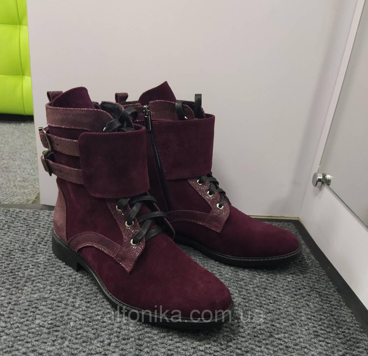 STTOPA деми зима. Размеры 42-44. Ботинки кожаные больших размеров! С9-61-4244-29-3644 Бордовые