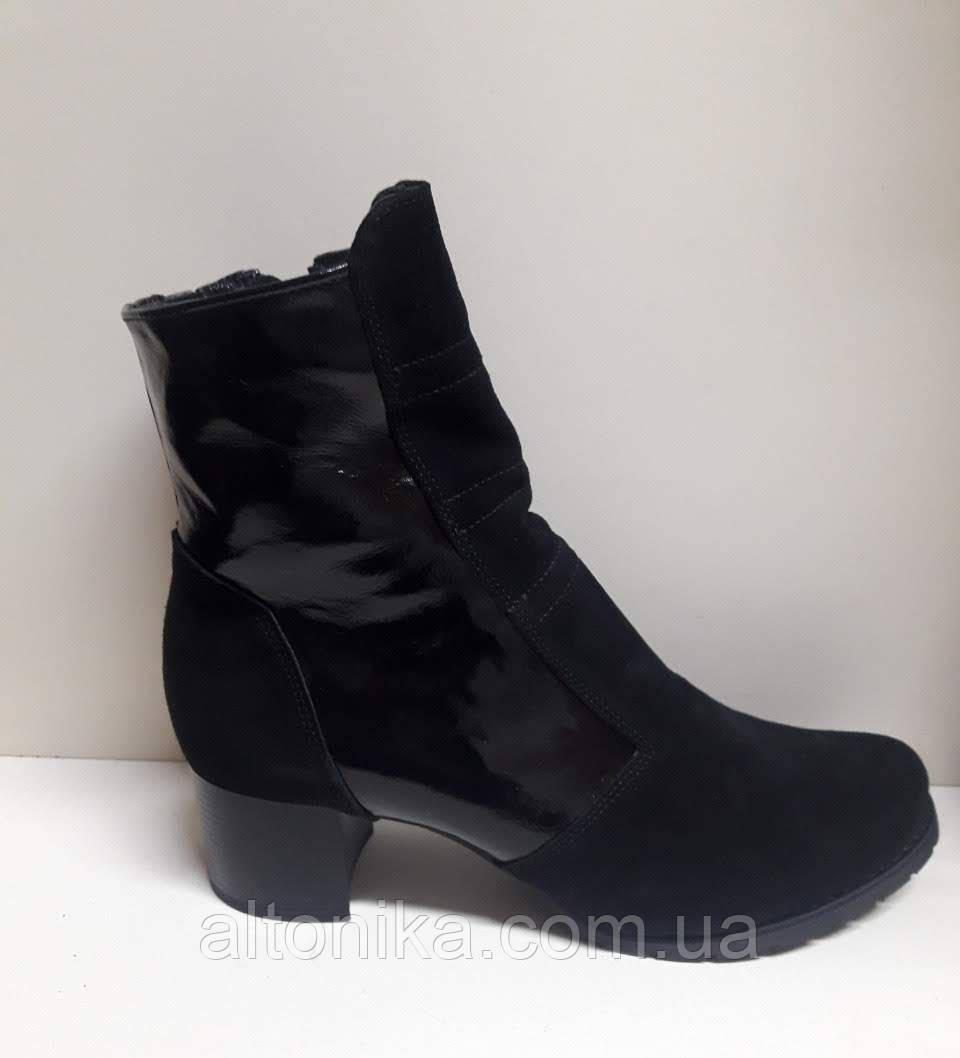 STTOPA деми зима 17,5 см. Размеры 42-43! Ботинки из натуральной кожи. С9-62-4243-6-3543 Черные