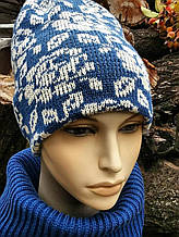 Комплект шапка і снуд жіночий