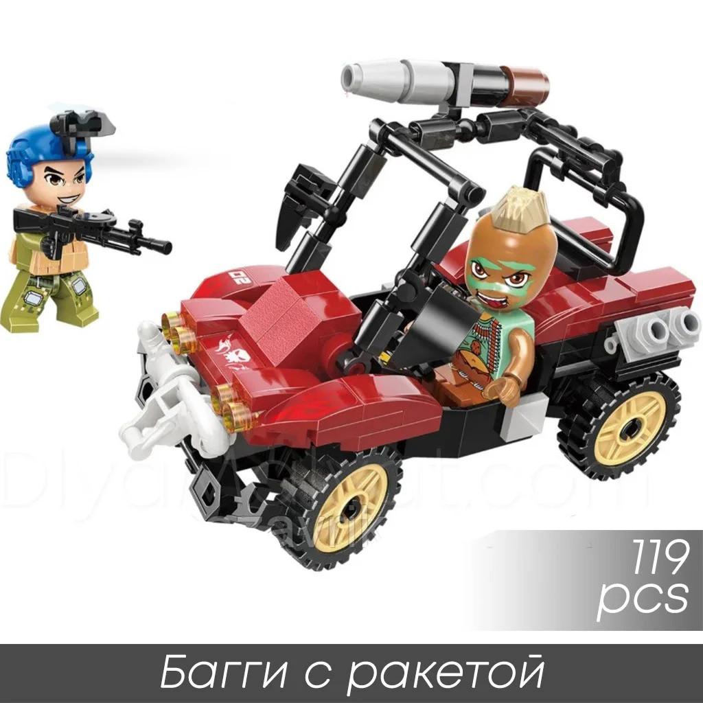 """Конструктор Qman 3210-2 """"Багги с ракетой"""" 119 деталей"""